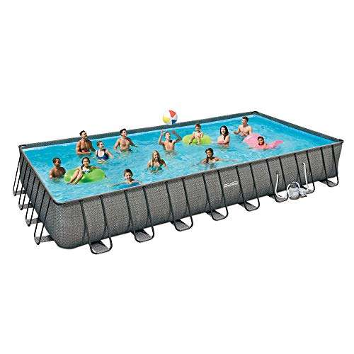 Summer Waves 32ft x 16ft x 52in Above Ground Outdoor Swimming Pool