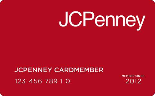 JCPenny online store credit card