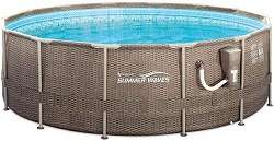 Compare Intex 15ft x 48in  With Summer Waves 14ft x 48in Above Ground Pool