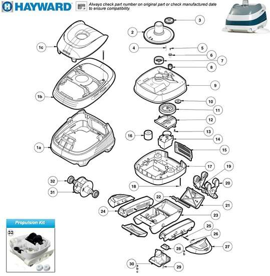 Key Features of the Hayward 2025ADC PoolVac XL Pool Cleaner