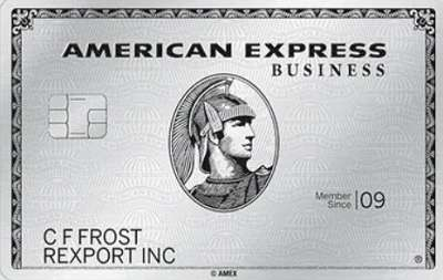 American Express Business Platinum Card for 5x membership rewards points